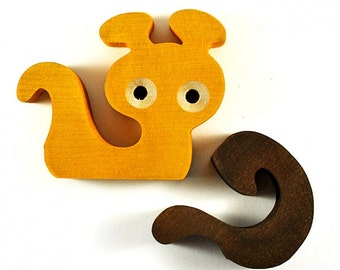 Snail Puzzle toy - Wooden puzzle - Wood waldorf toy