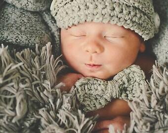 Crochet Hat Pattern: 'Max Newsboy & Bow Tie', Newborn, 3-6 mo, 9-12 mo, Toddler, Child