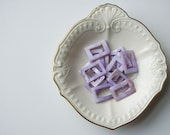 Bead Destash: Purple Mother of Pearl Beads, Mother of Pearl, Rectangle Beads, Purple Beads, Shell Bead, Mother of Pearl Bead