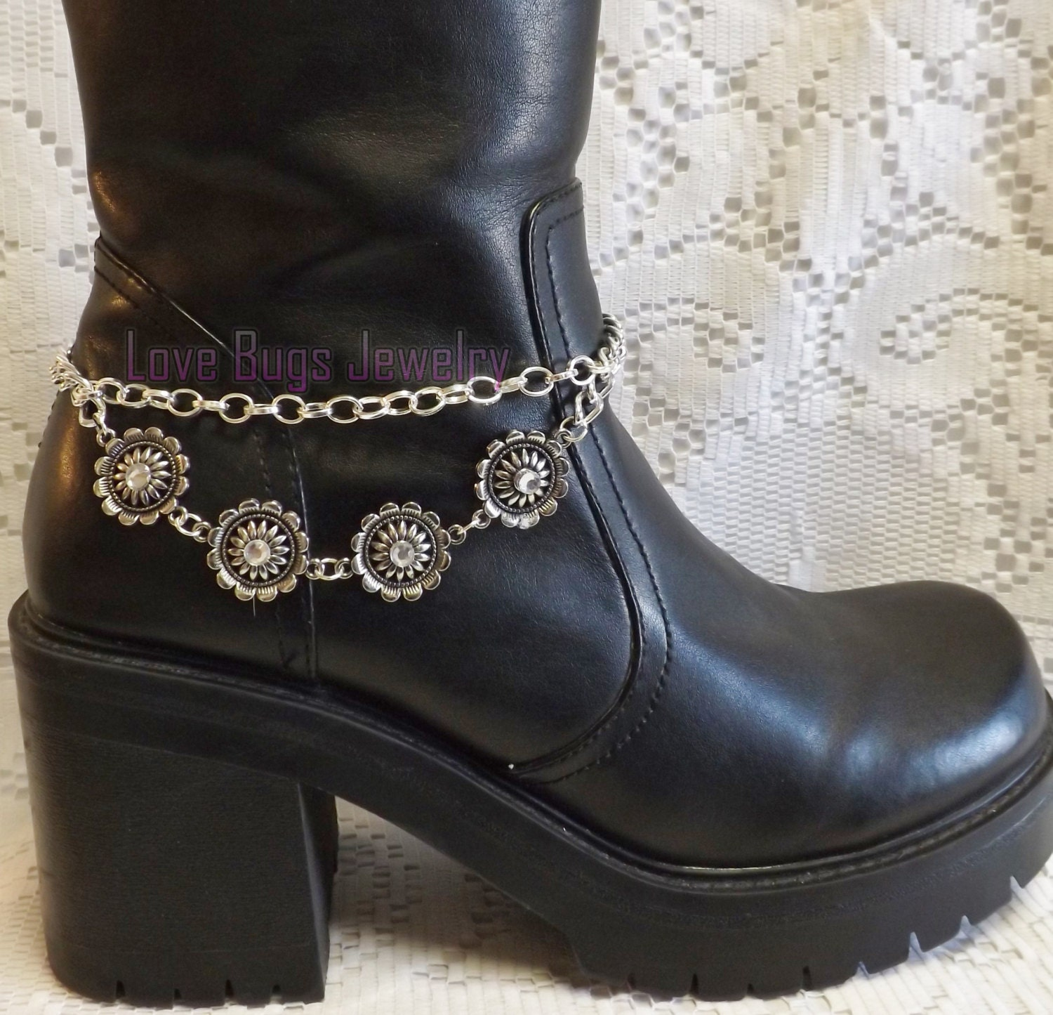 silver boot jewelry boot bracelet boot bling boot jewelry