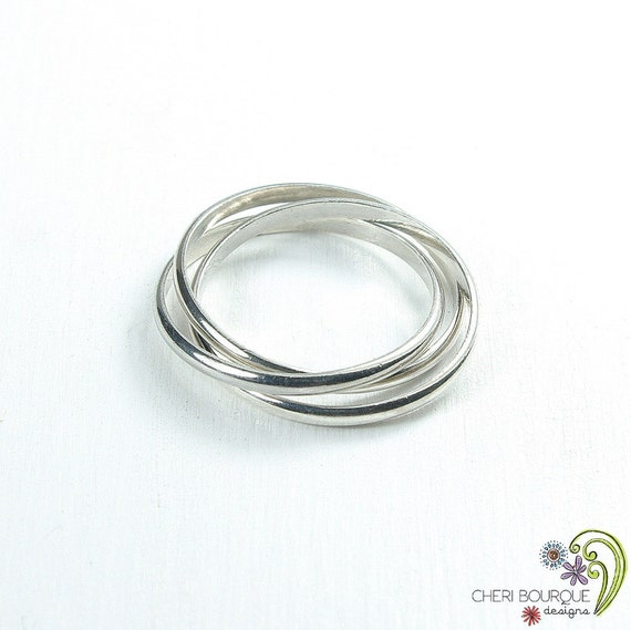 Triple Band Bands: Rolling Ring Interlocking Bands Triple Band Ring Russian