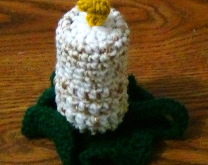 Flameless Candle Holiday Crochet