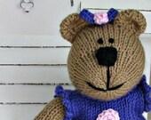 Knitted Toy - Easter Bear - Plush Doll - Stuffed Bear - Stuffed Animal - Knit Teddy Bear - Hand Knitted Bear - Child Toy - Kids Toy Shawna