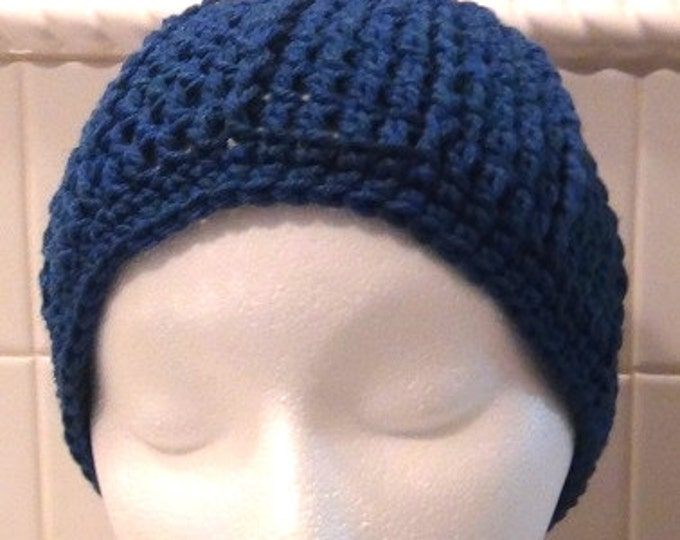 38333c7860d 15% OFF coupon on Crocheted Skullcap - Rich Blue Peacock Cap ...