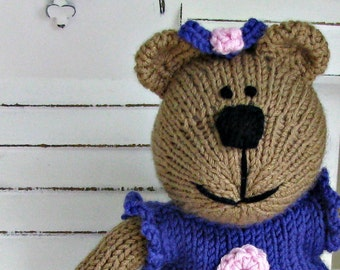 Knitted Toy - Easter Bear - Plush Doll - Stuffed Bear - Stuffed Animal - Knit Teddy Bear - Hand Knitted Bear - Child Toy - Kids Toy Shawna