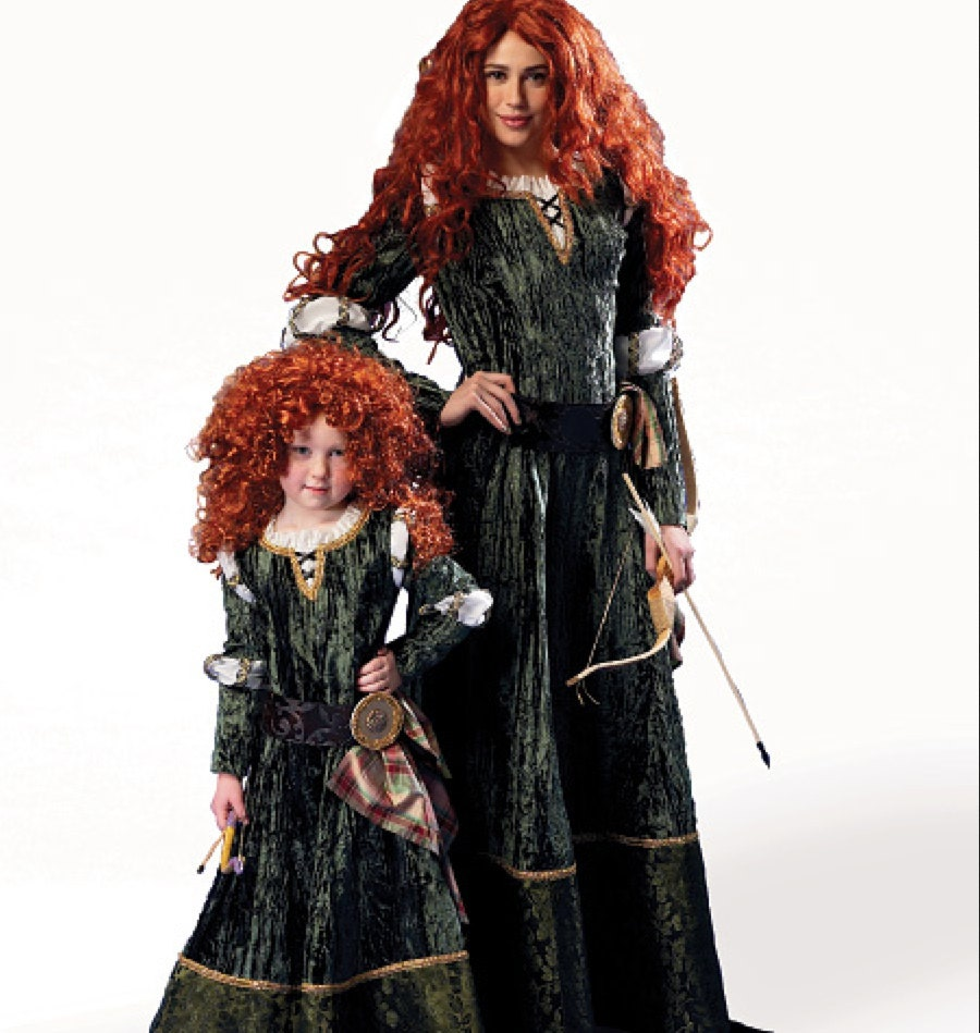 disney style cosplay brave merida princess or vampire costume. Black Bedroom Furniture Sets. Home Design Ideas