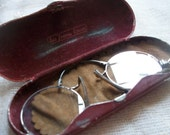 Antique French Pince-Nez Spectacles Glasses Lunettes and Case