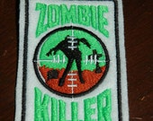 Zombie Killer Sew On Patch Cosplay Horror Embroidery