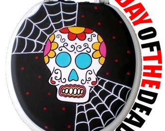 Calavera Day of the Dead Skull Toilet Seat Halloween by Debbie Is Adopted Bathroom Wall Art Decor Remodel Gift