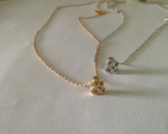 Dainty Ampersand Necklace - gold