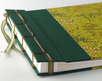 Handmade Photo Album: Green Bamboo large