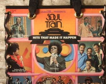 Soul Train Record Album Tote Bag