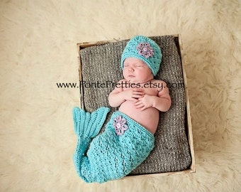 Molly Mermaid crochet PATTERN 0-3 months  3-6 months  Instant Download