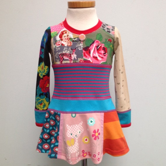 30% discount 12M/2T Upcycled Dress pussycat
