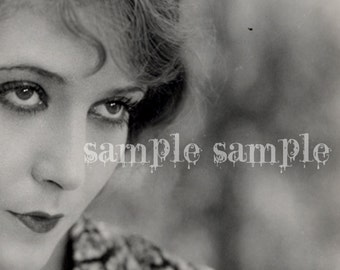 no910 VINTAGE photo DIGITAL DOWNLOAD collage sheet - Printable - Antique Photograph - Victorian Beautiful Woman