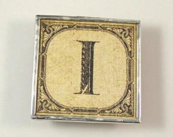 Letter I Initial Magnet