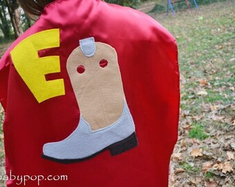 Superhero Cowboy Cape cowboy boot Capes Custom Personalized
