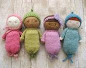 Sale - Amigurumi Knit Baby Doll Patterns Digital Download