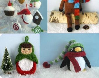 Christmas Knit Pattern Bundle Digital Download