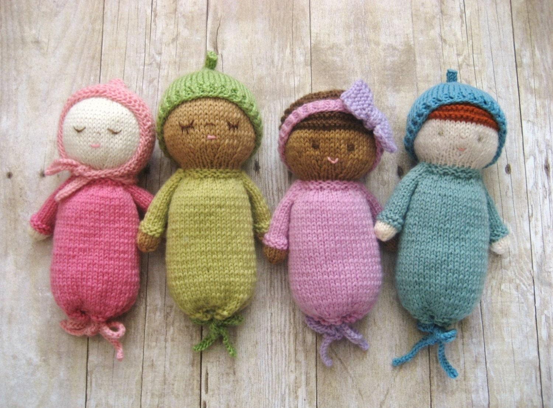 Knit Amigurumi Doll Pattern : Amigurumi knit baby doll patterns digital download