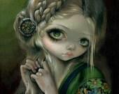 Guinevere Had Green Eyes fairy art print by Jasmine Becket-Griffith12x16 BIG renaissance queen king arthur legend