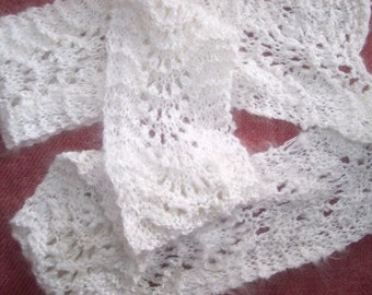 Wavy lacy ripple scarf easy knitting pattern