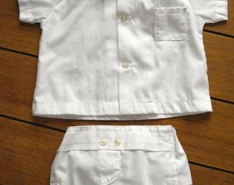 Vintage 1960s Baby Outfit Diaper Pants Waterproof Newborn Preemie 2013557