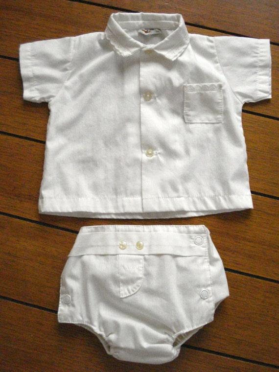 Vintage 1960s Baby Outfit Diaper Pants Waterproof Newborn