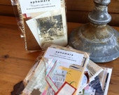 Vintage Ephemera for your art journal or mixed media art