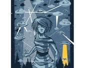 UFO - Mini Art Print