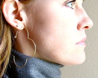 x- large golden gothic hoops