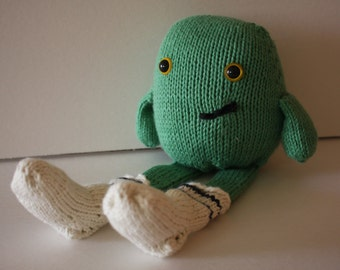 MADE TO ORDER: Cute Little Sock Stealing Monster, Knit with Love