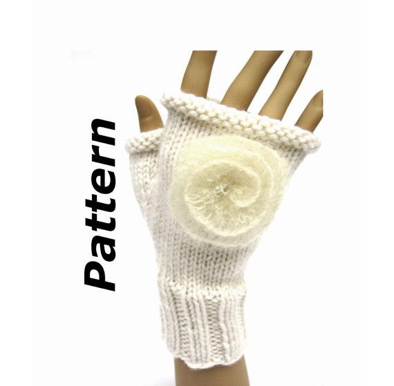 Fingerless Mitts knitting pattern pdf aran worsted yarn easy