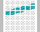 Photoshop PNG Inchies Template, Photoshop Templates, One Inch Squares, Inchies Templates, Instant Download, Templates