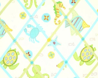 Ocean Critters Under The Sea Creatures French Ribbon Memo Board