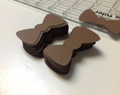 Little bowties Brown 1 by 2 inch. 100 pieces