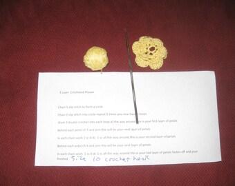 Yellow Crochet Flower Kit