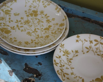 Sheffield Golden Meadow Misc Pieces.  Plates.