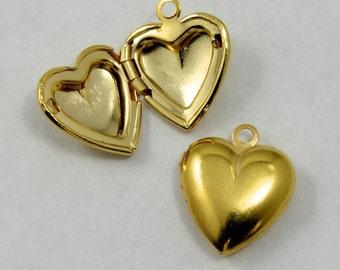 15mm Heart Locket Charm (2 Pieces) #1420