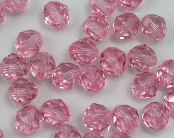 Swarovski 5025 6mm Light Rose Round Faceted Bead