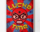Lucha Time Wall Art Print