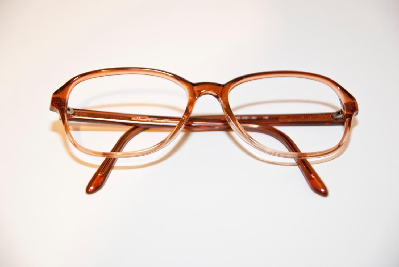 Vintage Cognac Hipster Mens Eyeglasses