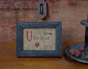 Primitive 1836 Valentine Mini Sampler Cross Stitch E Pattern PDF