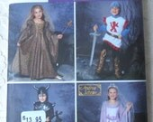 Simplicity 5520 Sewing Pattern Medieval Princess Knight Renaissance Costume Childs Size 3-8