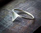 Order for Joana - Silver Triangle Ring - Set of Two in size 6 1/4