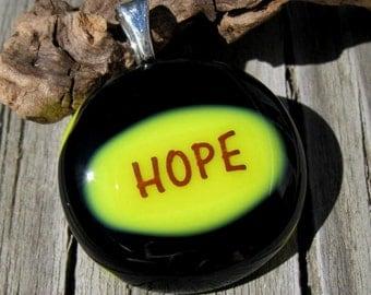 Hope Fused Glass Pendant