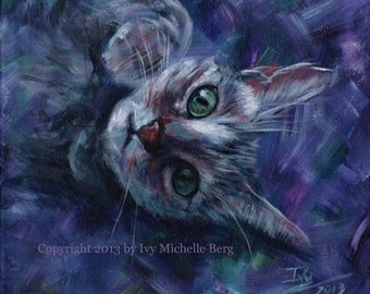 "Custom Animal (Pet) Portrait: Original Acrylic Painting, 8"" x 10"" or 9"" x 12"""