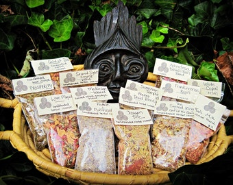 LOVE MAGICK Handblended Loose Incense herbs and resins blend
