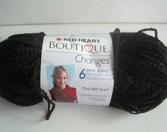 one skein of Red Heart Boutique Changess yarn destash