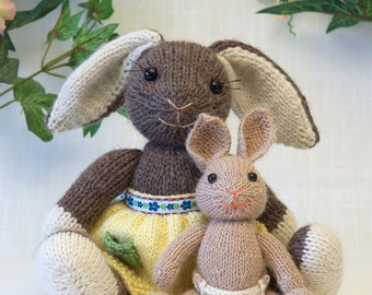 Mama and Baby Bunny Knitting Pattern
